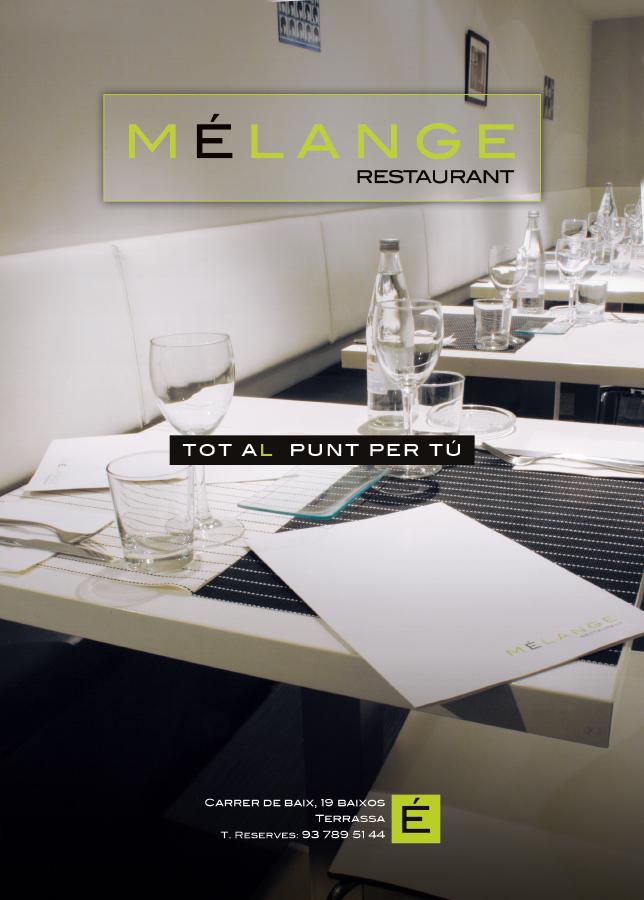 Melange Restaurant Anuncio