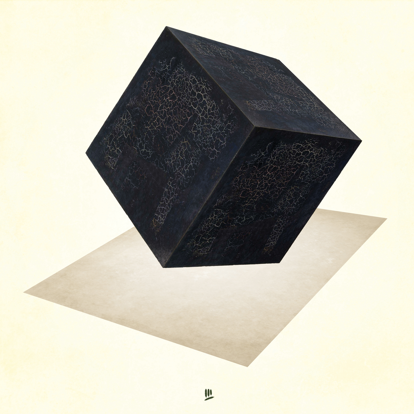 Black square over white background by Luis Miguel Galache 2019